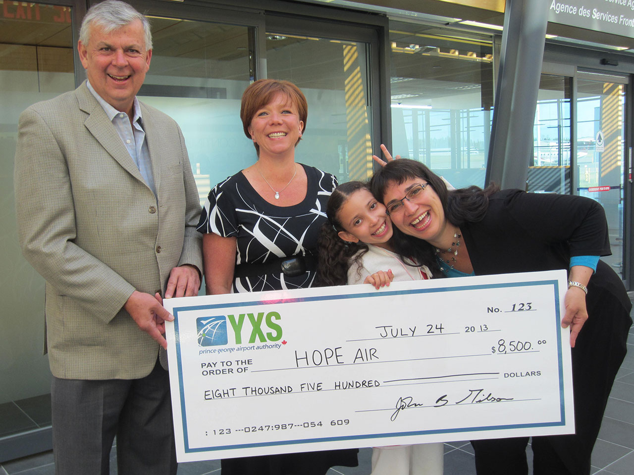 Prince George Airport Authority donation to Hope Air picture