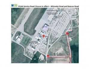 Map of service road closure