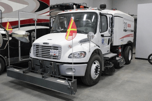 Grounds maintenance vehicle - Elgin street sweeper 210