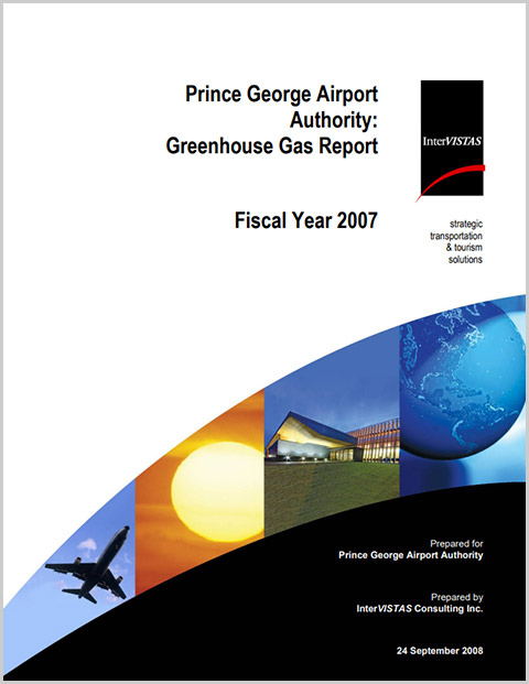Prince George Airport Authority Greenhouse Gas Report cover