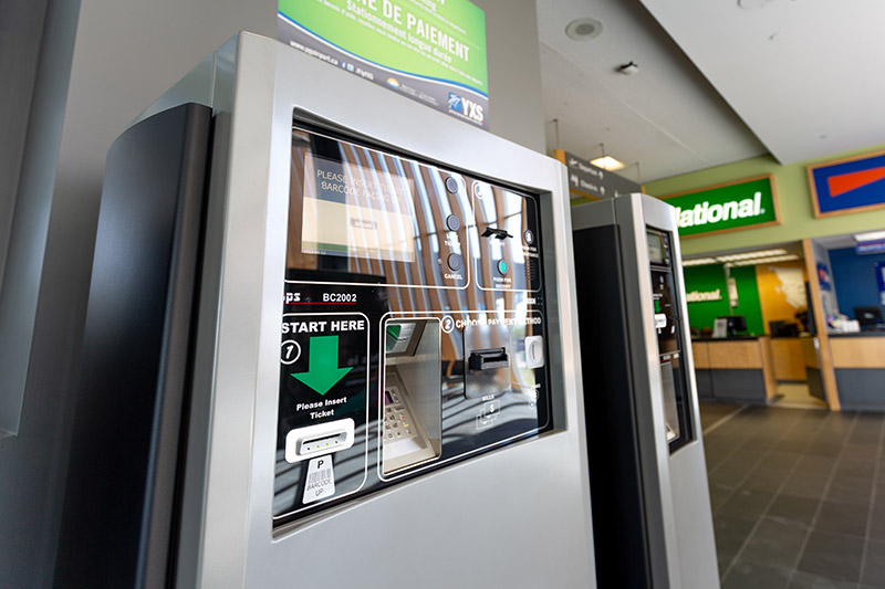 Pay for Parking machines in the airport terminal